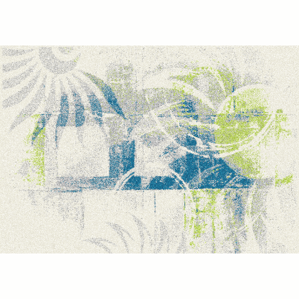 Covor Jumeo, 100x150 cm, poliester, multicolor poza