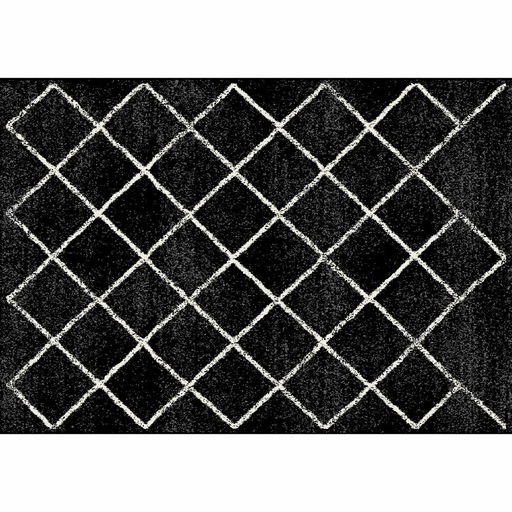 Covor Mates 1, 133x190 cm, poliester, negru poza