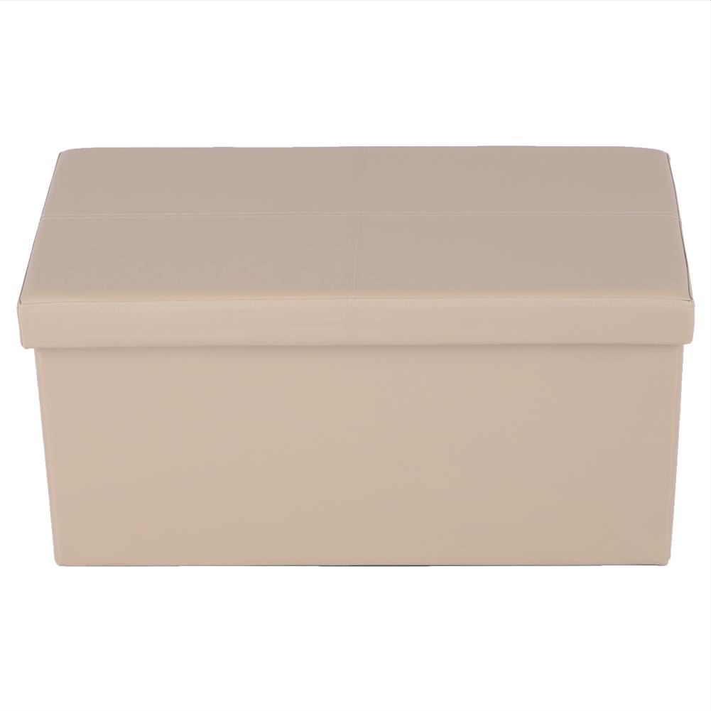 Taburet pliabil Imra, 76x38x38 cm, ecopiele, maro poza