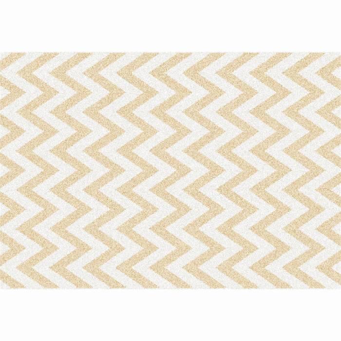 Covor Adisa 2, 133x190 cm, poliester, bej/alb