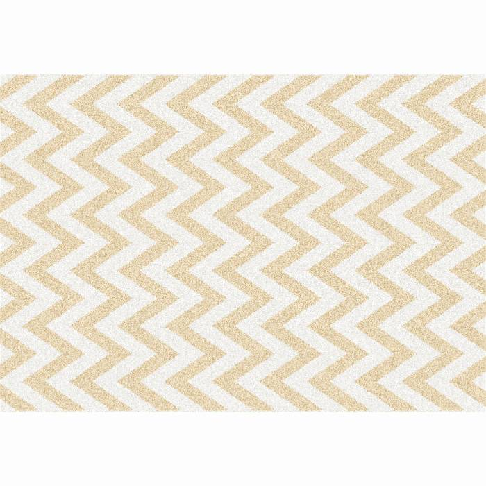 Covor Adisa 2, 67x120 cm, poliester, bej/alb