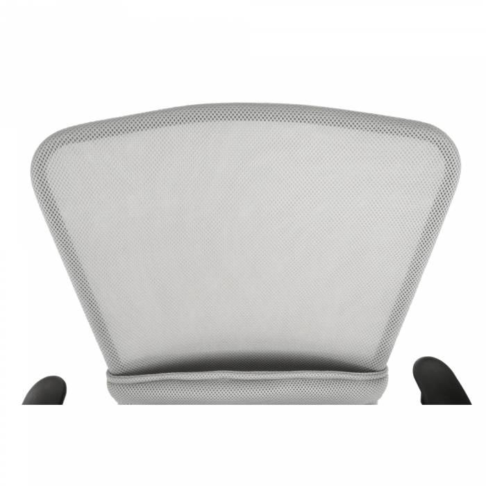 Scaun de birou Aex, 59x63x102 cm, textil/metal, gri/negru