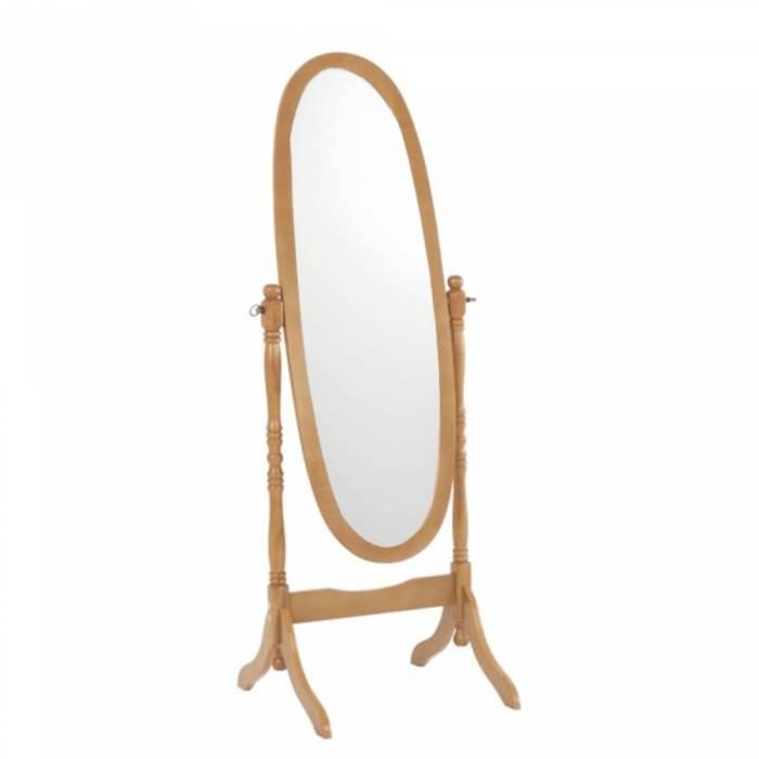 Oglindă de podea Maira, 58x150 cm, lemn, maro stejar
