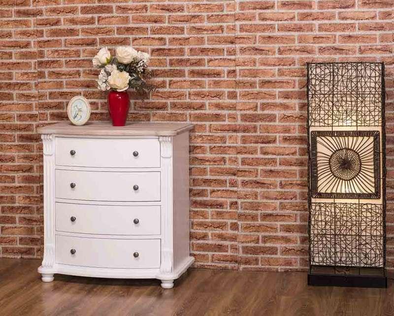 Comodă dormitor 4 sertare Jansen Oak poza