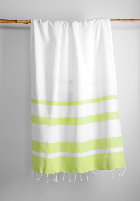 Prosop șezlong verde alb Filao Anis 95x180 cm poza