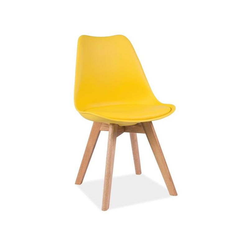 Scaun retro Ronne Yellow imagine