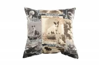 Pernă vintage câine 100% in Marconi 50x50 cm