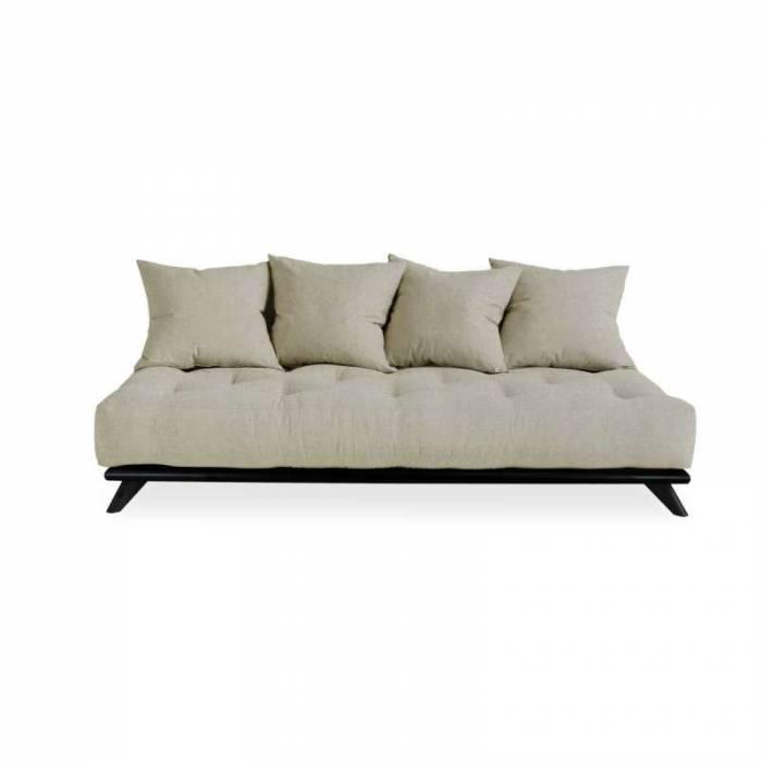 Canapea 3 locuri, stil scandinav, bej in Senza Black