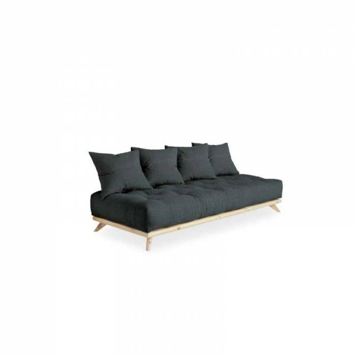 Canapea 3 locuri, stil scandinav, gri ardezie Senza Natur