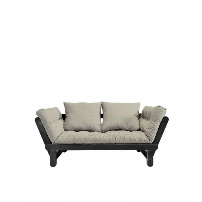 Canapea extensibilă bej in Beat Black