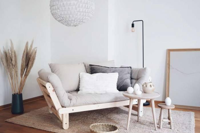 Canapea extensibilă crem Beat Natur