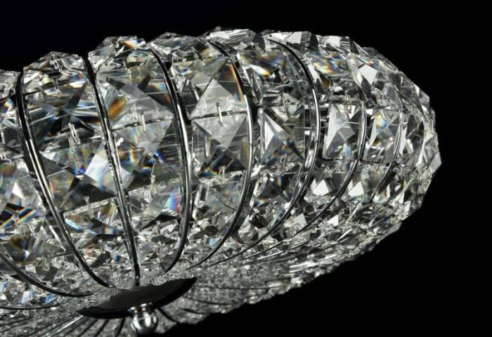 Candelabru argintiu modern Broche S