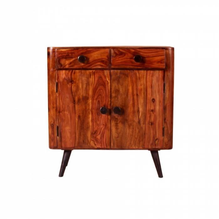 Comodă cu uși și sertare din lemn de palisandru Shewa