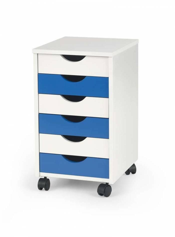 Comodă mobilă cu șase sertare Beppo