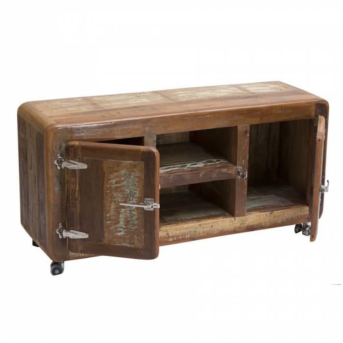 Comodă TV din lemn exotic Old Boat