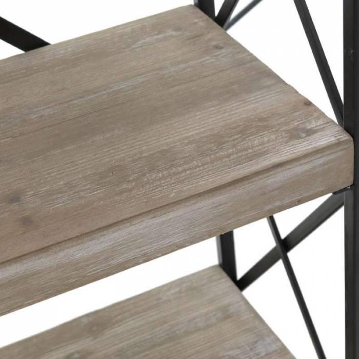Etajeră din metal și lemn de brad Shawnee