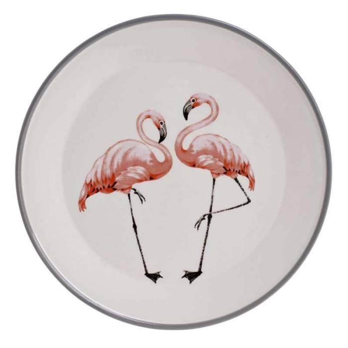Farfurie decorativă Flamingo