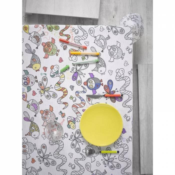 Față de masă de colorat pentru copii Animals 140x140 cm
