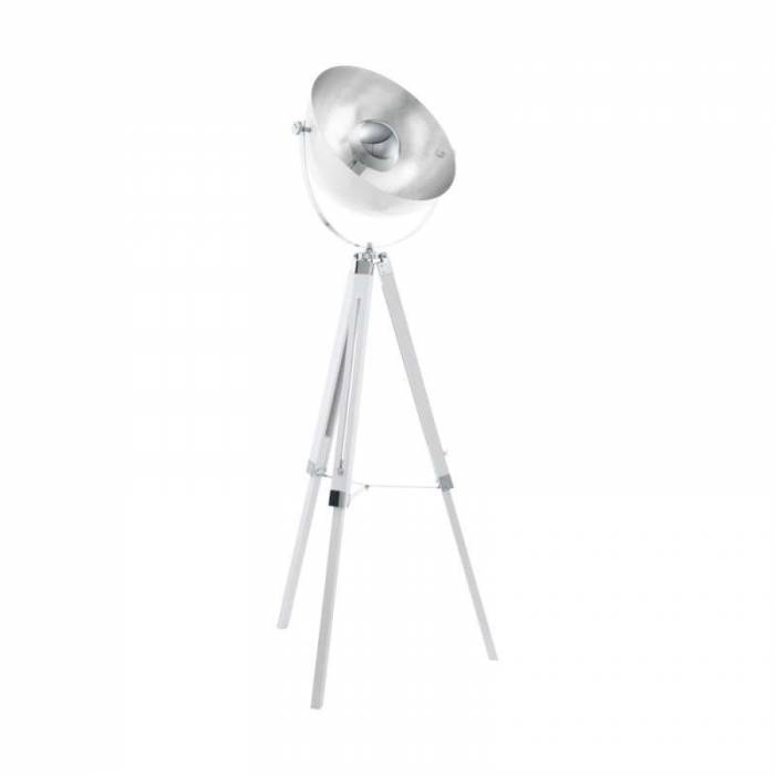 Lampadar argintiu metalic Covaleda