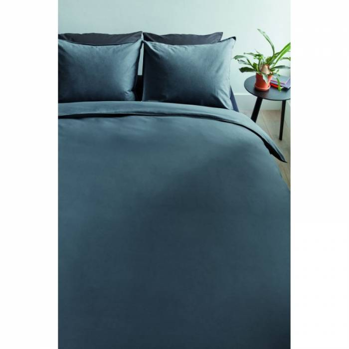 Lenjerie de pat gri închis Basic 200x200 cm