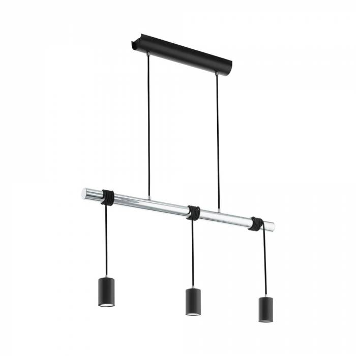 Lustră pendul cu 3 brațe Townshend,  LED GU10 3X5W, metal, negru/crom