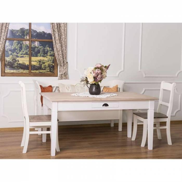 Masă de dining cu blat stejar Cyril Oak 160