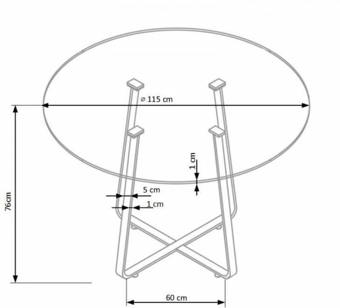 Masă de dining Looper