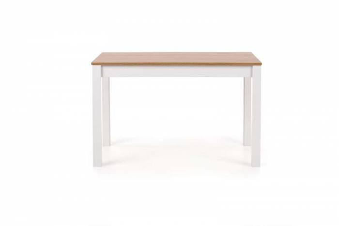 Masă de dining Samuel 120x68x76 cm, PAL/MDF, alb/maro