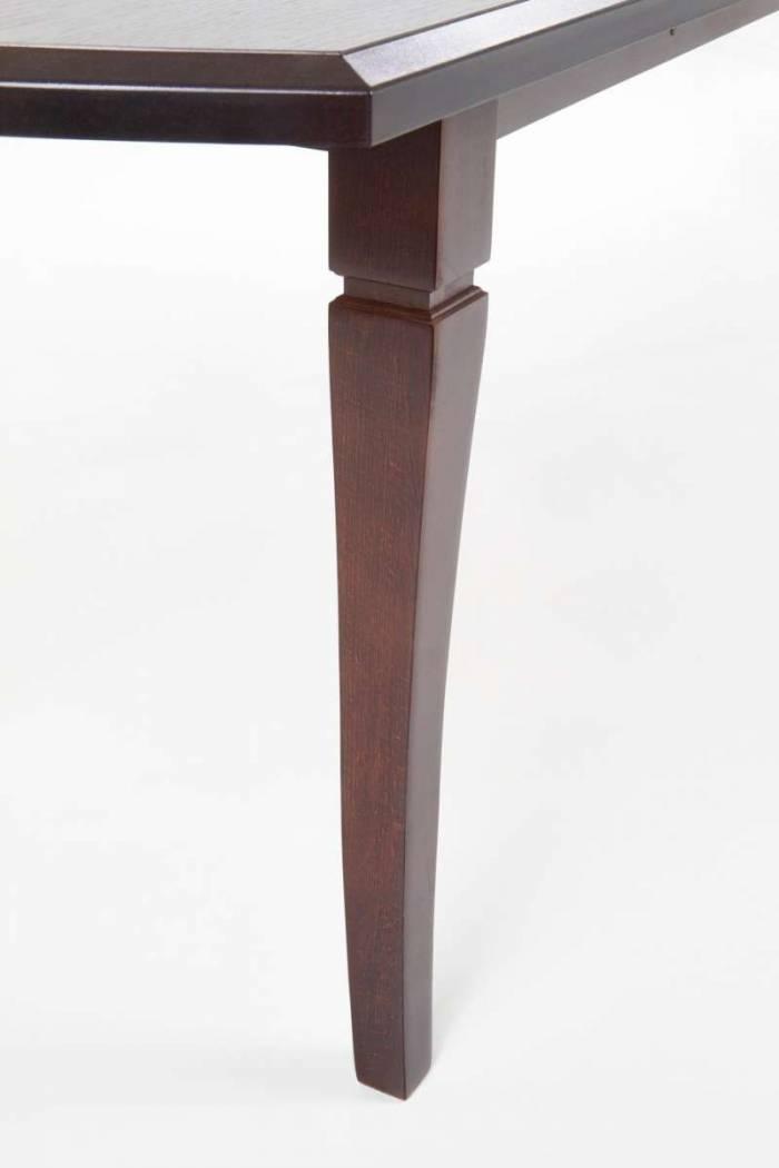 Masă extensibilă de dining Hanover 160/240x90x74 cm, lemn, maro nuc