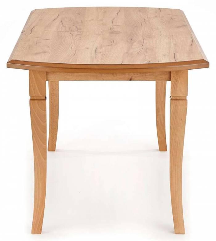 Masă extensibilă de dining Hanover 160/240x90x74 cm, lemn, maro