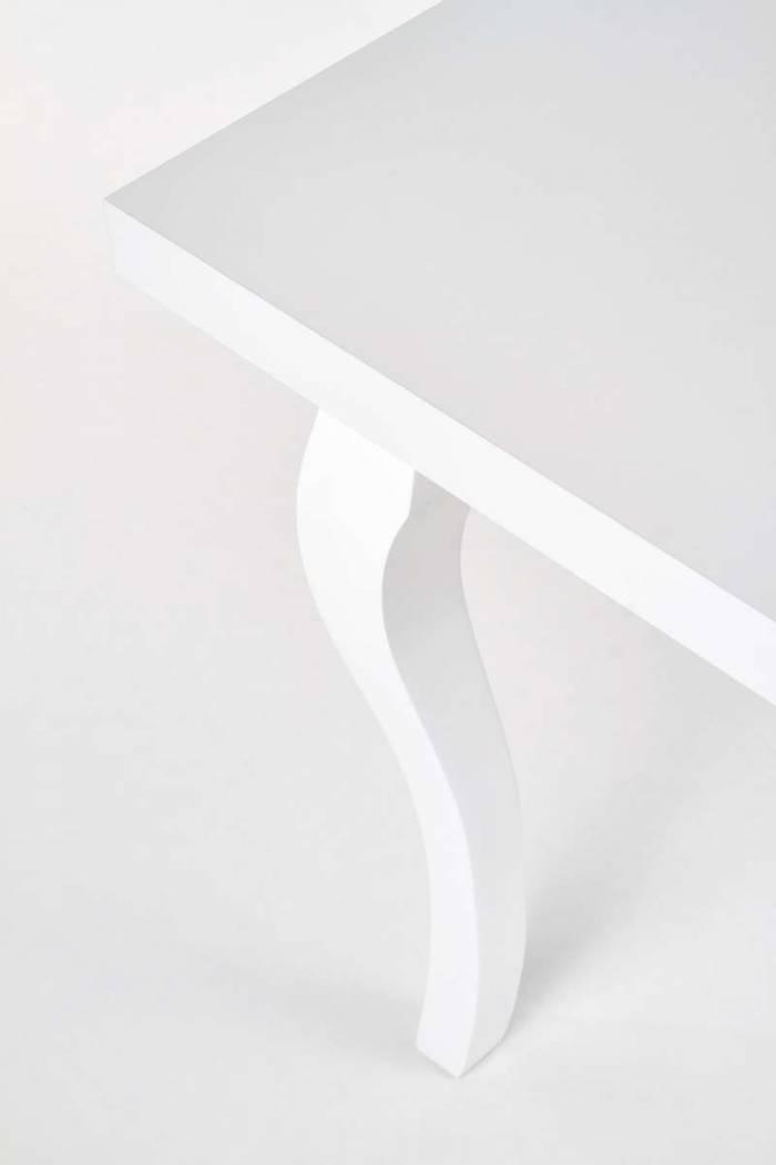 Masă extensibilă Salzburg 160/240x90x75 cm, Lemn/MDF, alb - OLD