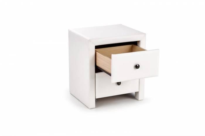Noptieră albă cu două sertare Prima