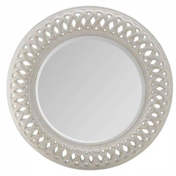 Oglindă decorativă Roto White