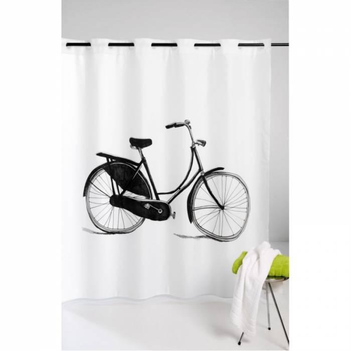 Perdea de duș albă retro Bicycle 216 180x200 cm