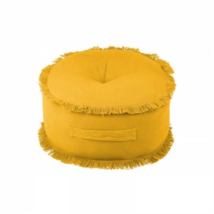 Pernă galbenă pentru podea Prague