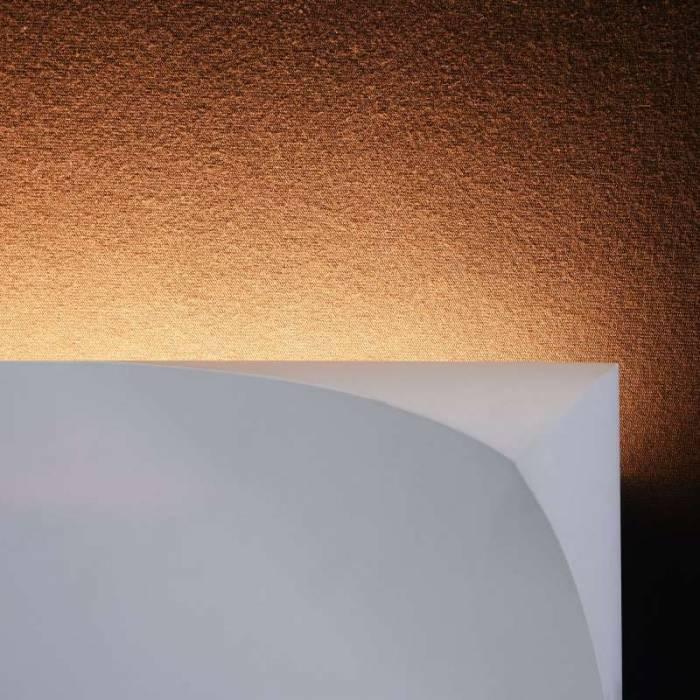 Aplică de perete alba dreptunghiulara Pero