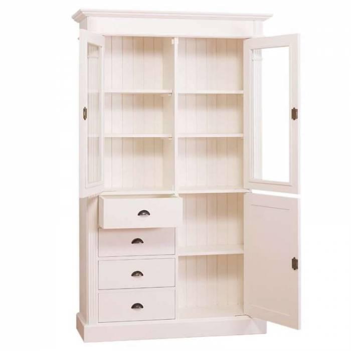 Bibliotecă cu uși și 4 sertare Chelsea