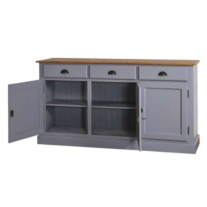 Bufet în stil rustic cu 3 uși și 3 sertare Bastien