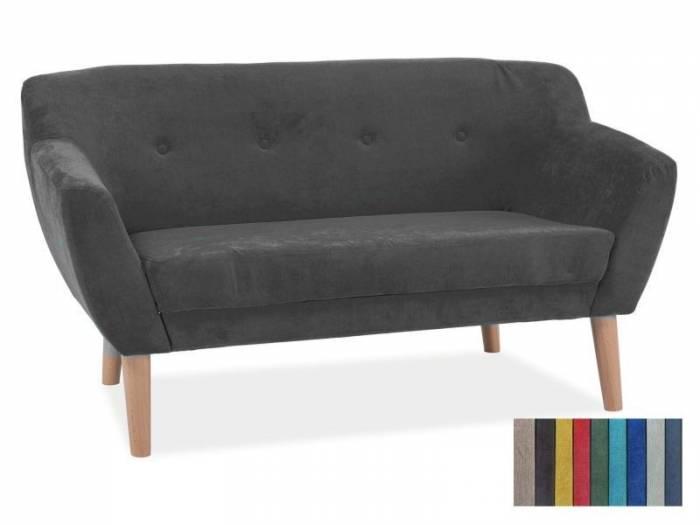 Canapea de două locuri Jansen Grey