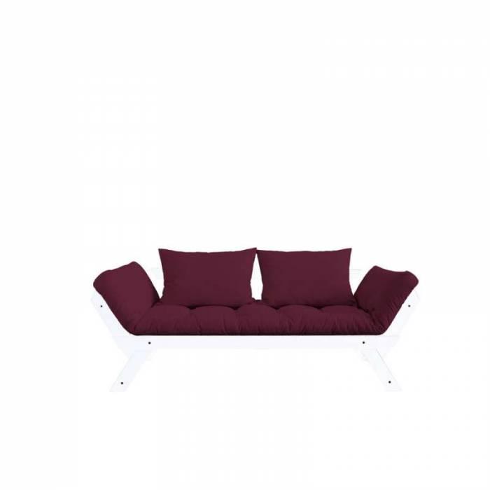 Canapea extensibilă bordo 2 locuri Bebop White