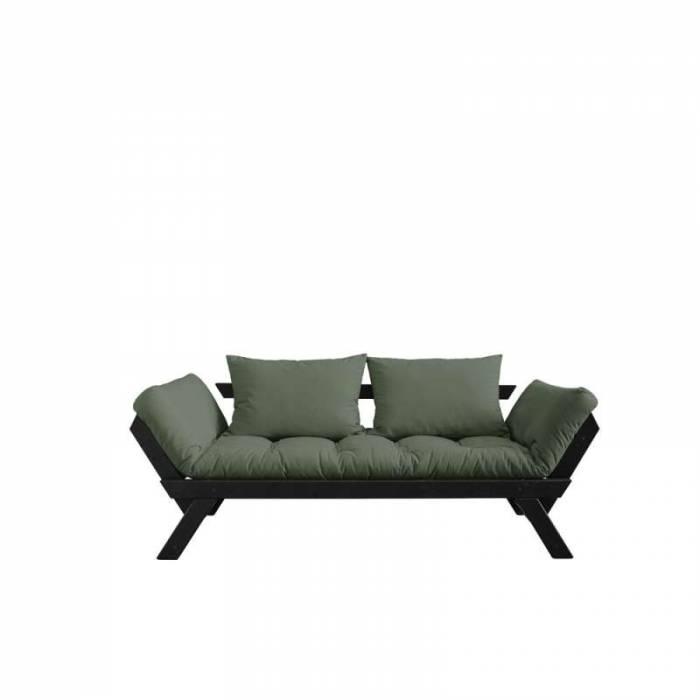 Canapea extensibilă oliv 2 locuri Bebop Black