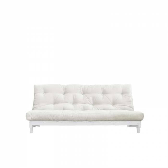 Canapea extensibilă textil crem Fresh White