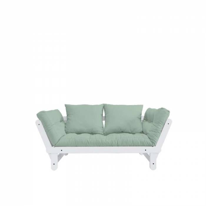 Canapea extensibilă verde mentă Beat White