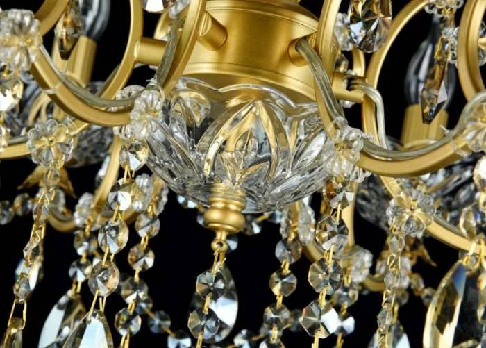 Candelabru auriu cu 6 becuri Sevilla