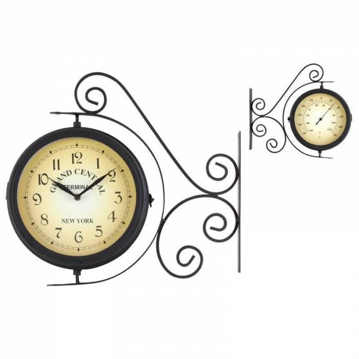 Ceas de gară cu termometru Grand Central