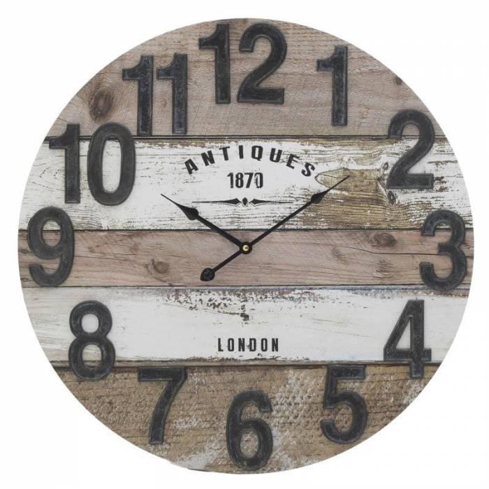 Ceas decorativ din lemn Trafalgar