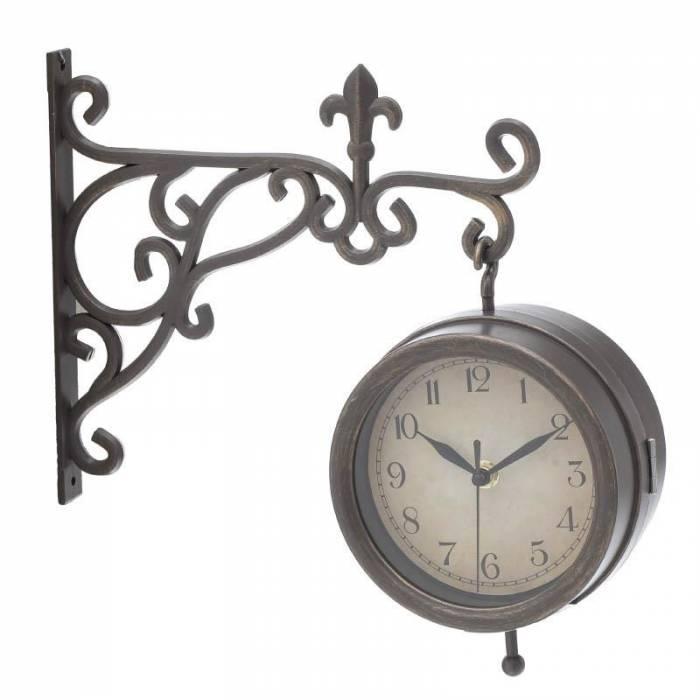 Ceas metalic de gară Sinaia