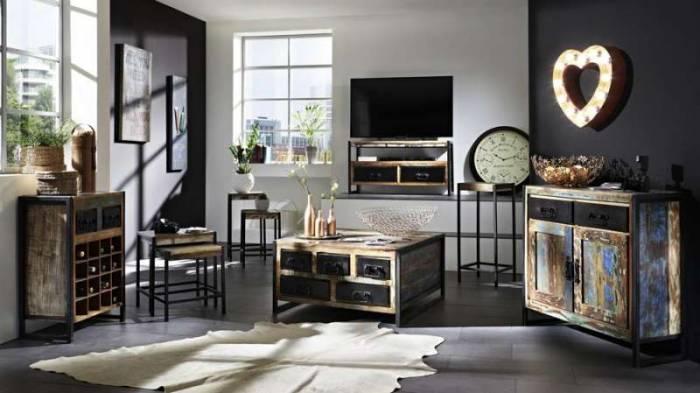 Comodă TV din lemn reciclat Indochina Low