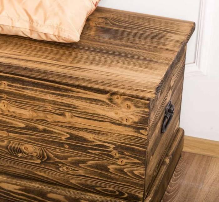 Cufăr rustic din lemn masiv Alberta M