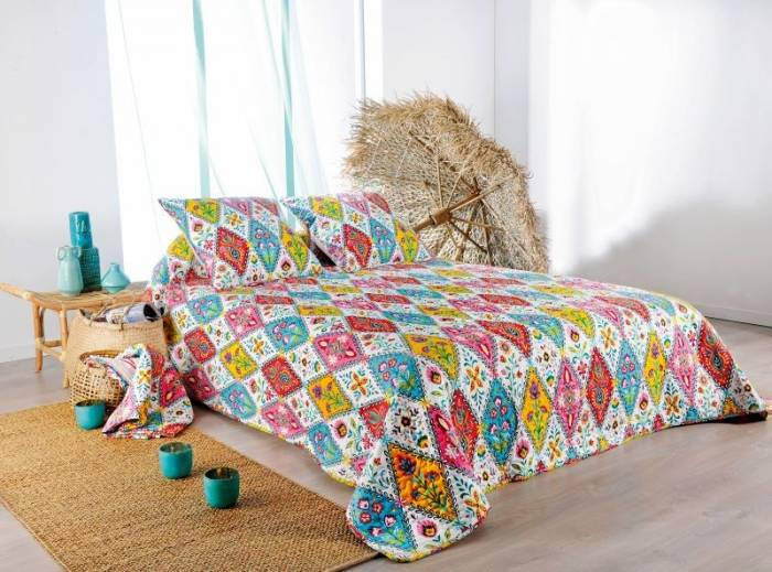 Cuvertură de pat colorată flori 5072 Gipsy 230x250 cm